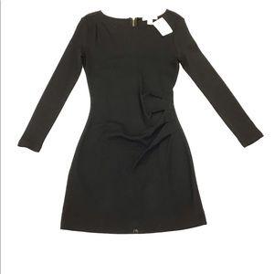 Banana Republic Black Dress W Side Gather Size 00P